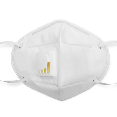 N95 mask for protection pm 2.5 and corona virus isolated on white background with clipping path, Medical mask protection against pollution, virus, flu, coughing and coronavirus.